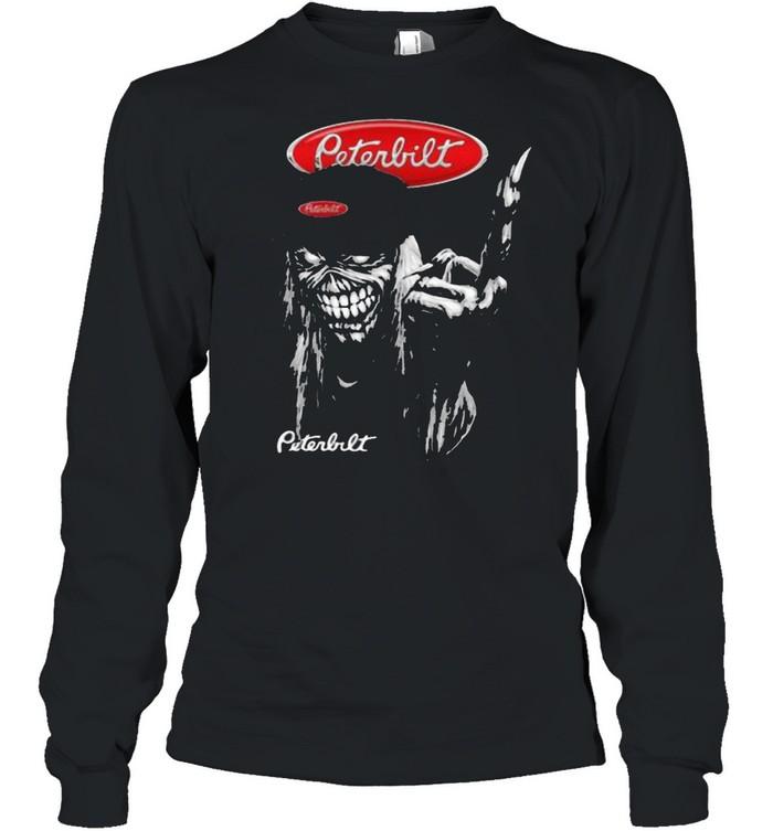 skull peterbilt logo  long sleeved t shirt
