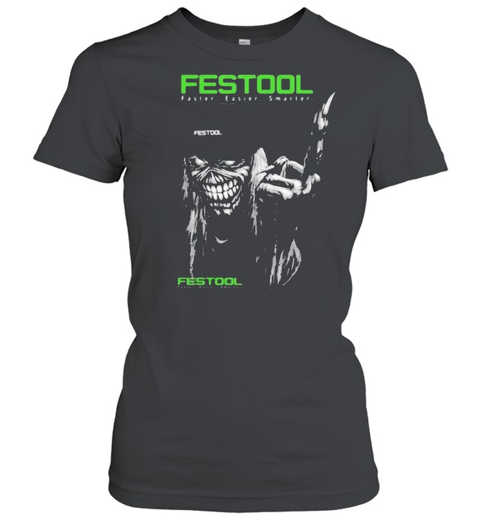 Skull With Festool Faster Easier Smarter Logo  Classic Women's T-shirt