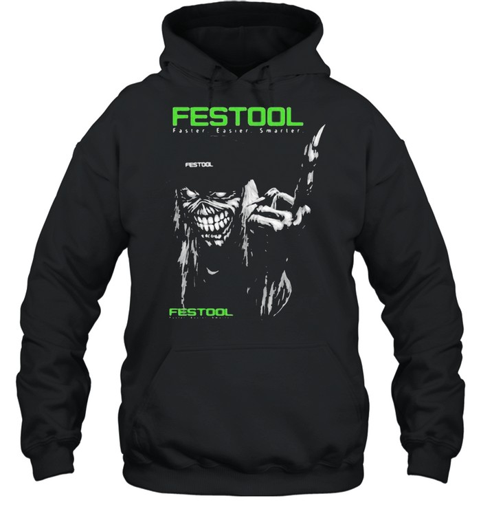 Skull With Festool Faster Easier Smarter Logo  Unisex Hoodie