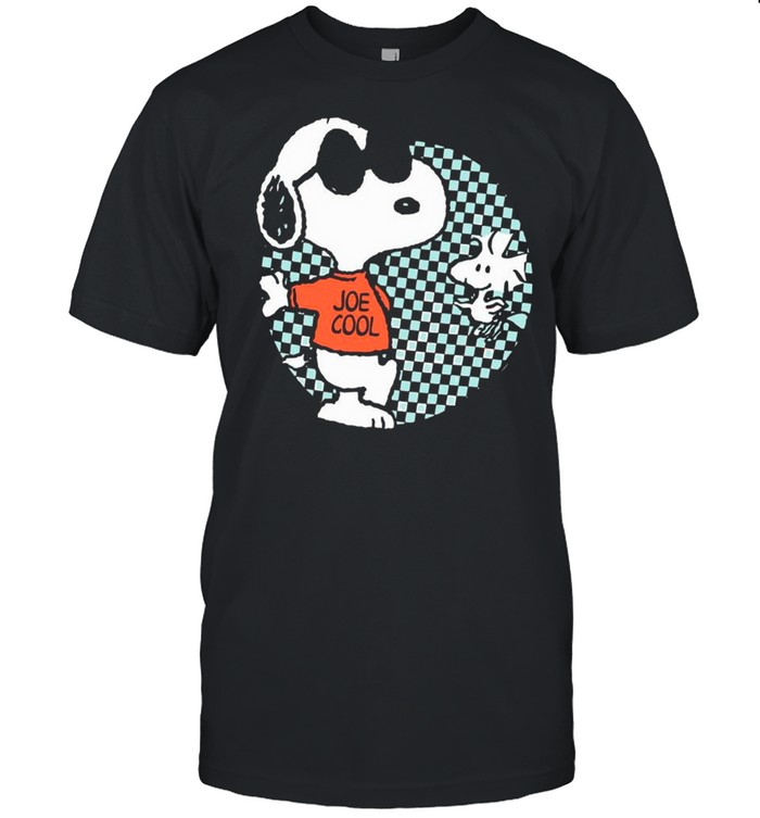 Snoopy Joe Cool And Woodstock Checkered Cartoon shirt Classic Men's T-shirt
