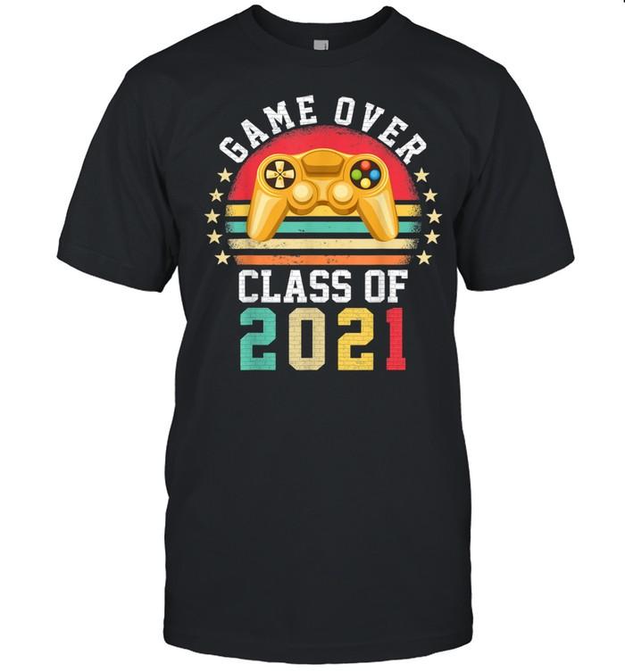 GameOver Class Of 2021 Graduation Retro Vintage Gamer Grad shirt Classic Men's T-shirt