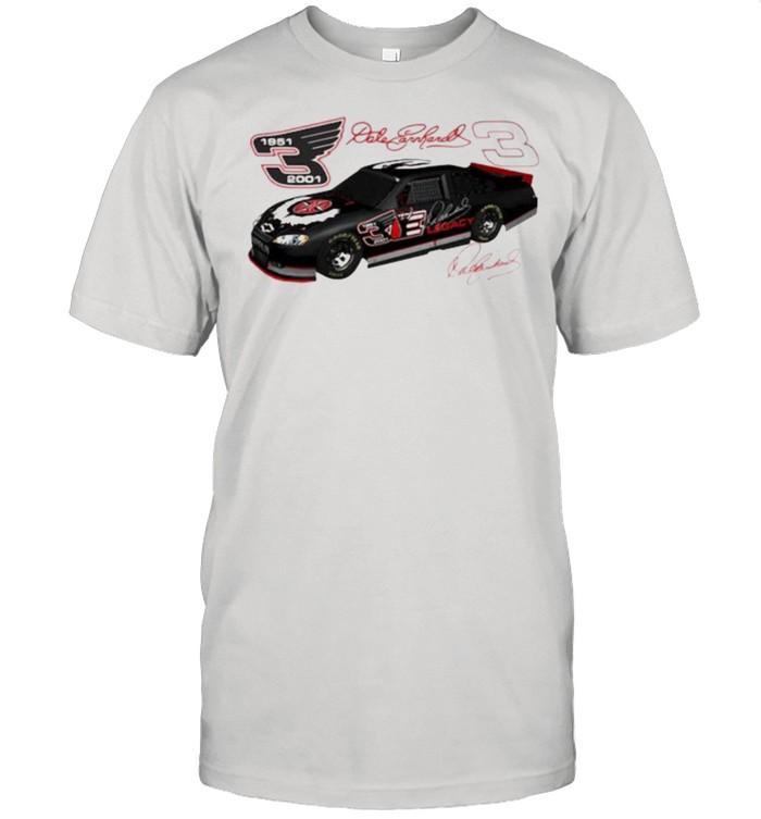 Dale Earnhardt Signature Nascar 1951 2001  Classic Men's T-shirt
