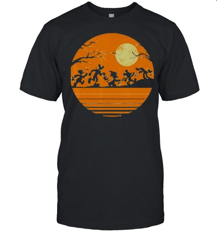 Moon Mickey And Friends  Classic Men's T-shirt