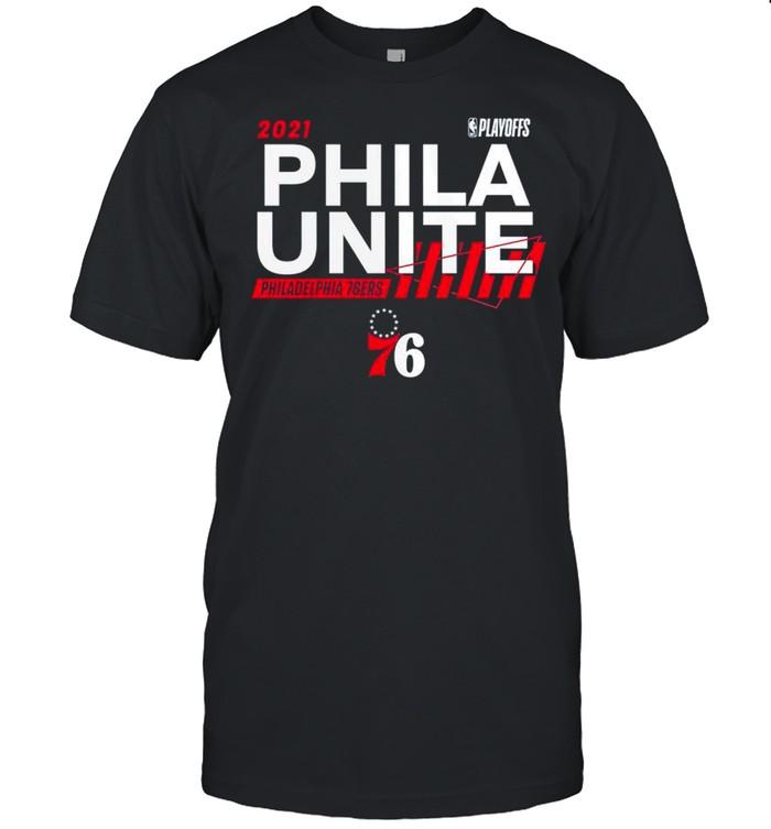 2021 NBA Playoffs Philadelphia 76ers Phila Unite shirt Classic Men's T-shirt