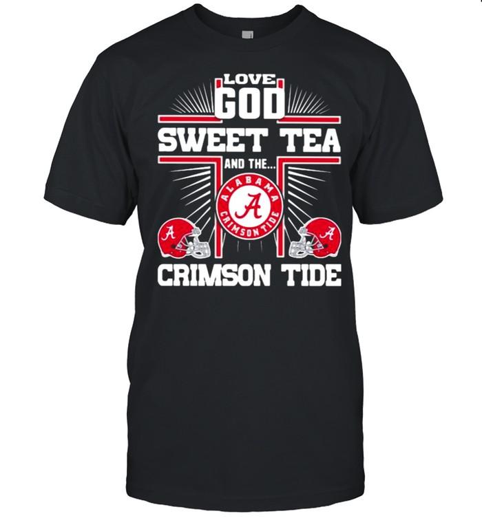 Love god sweet tea and the crimson tide alabama shirt Classic Men's T-shirt
