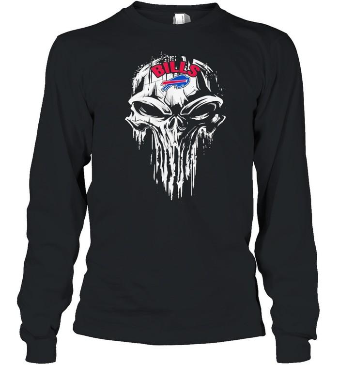 The Punisher Skull With Buffalo Bills 2021 shirt Long Sleeved T-shirt