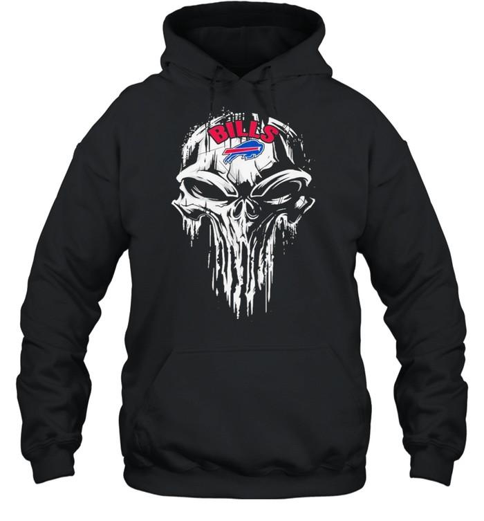 The Punisher Skull With Buffalo Bills 2021 shirt Unisex Hoodie