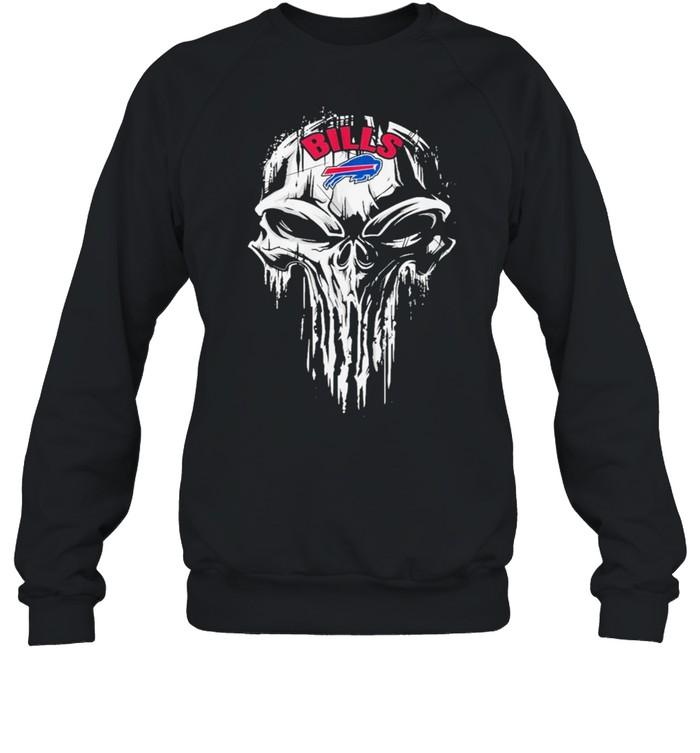 The Punisher Skull With Buffalo Bills 2021 shirt Unisex Sweatshirt
