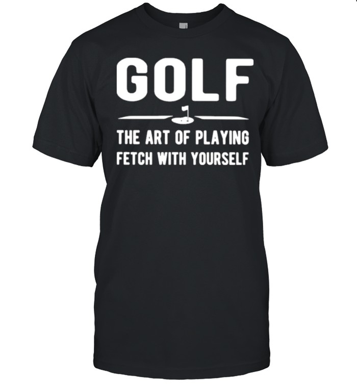Gold the art of playing fetch with yourself shirt Classic Men's T-shirt