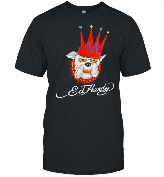 Bulldog King Ed Hardy  Classic Men's T-shirt