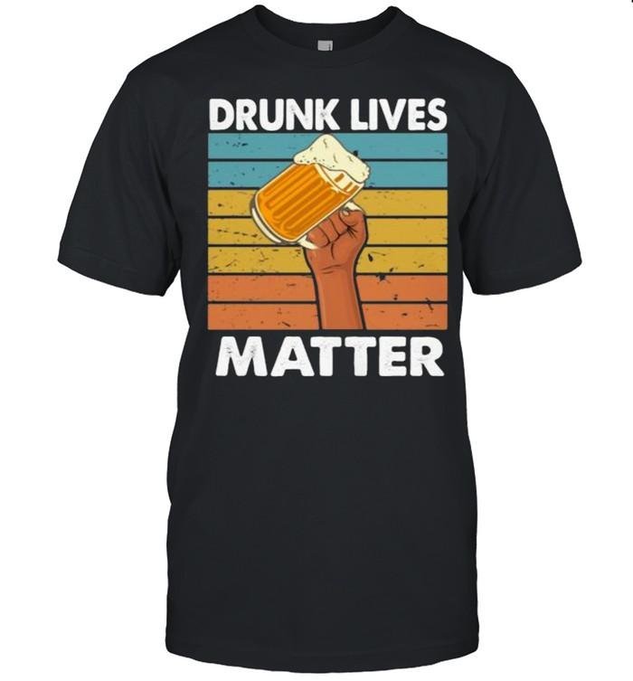 Drunk Lives Matter Beer Vintage  Classic Men's T-shirt