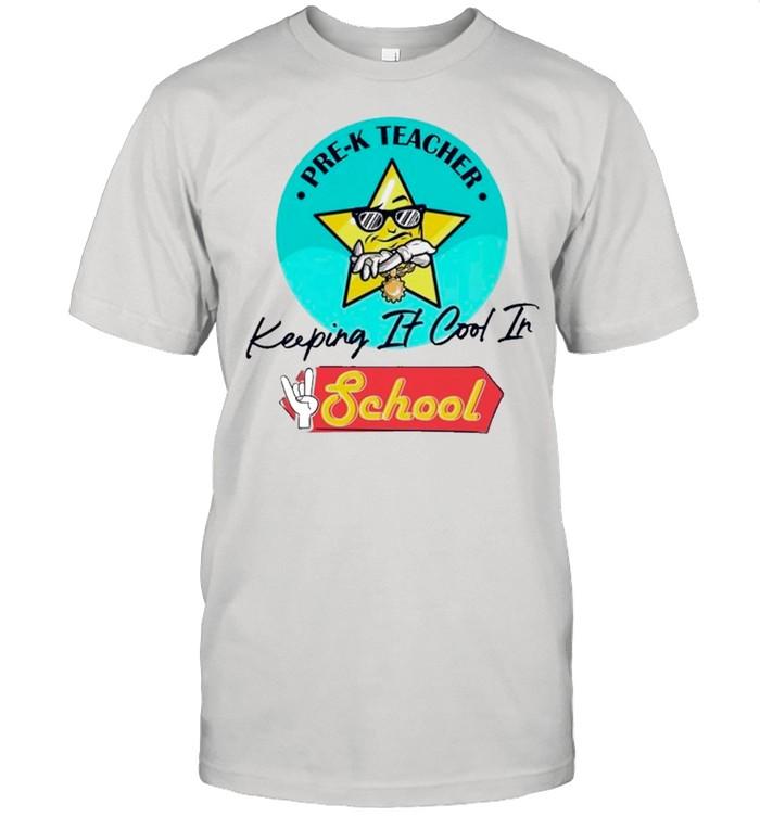 Starfish Pre-k Teacher Keeping It Cool In School shirt Classic Men's T-shirt