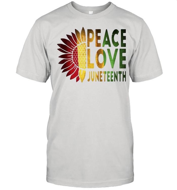 Peace Love Juneteenth T-shirt Classic Men's T-shirt