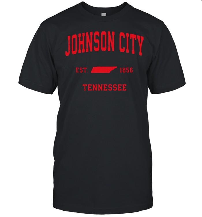 Johnson City Tennessee TN Est 1856 Vintage Sports T- Classic Men's T-shirt