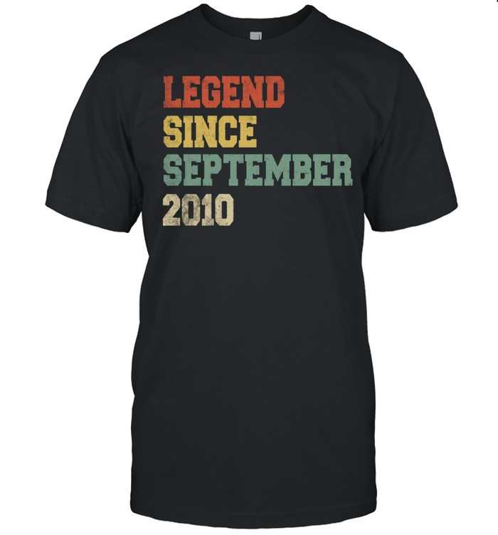 Legend Since September 2010 11th Birthday 11 years old shirt Classic Men's T-shirt