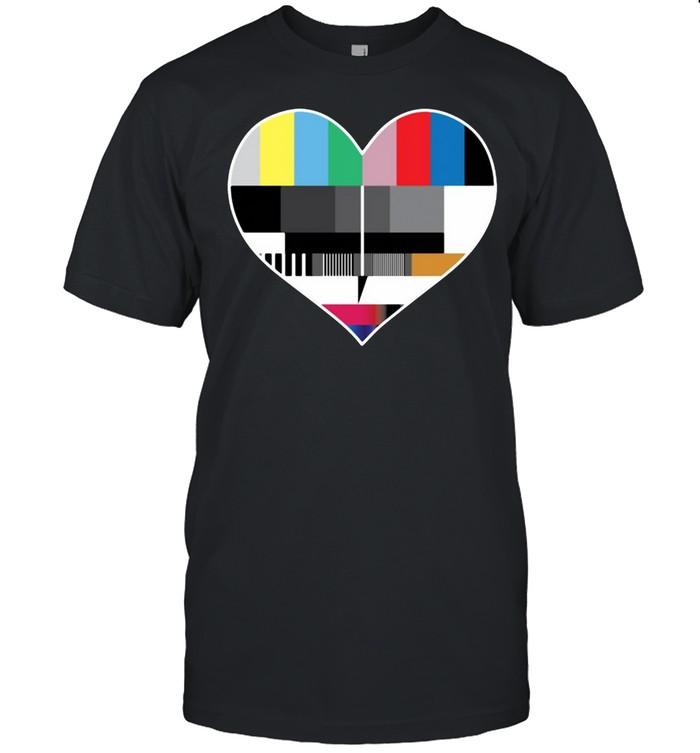 Testbild 80er und 90er Jahre Herz T-shirt Classic Men's T-shirt
