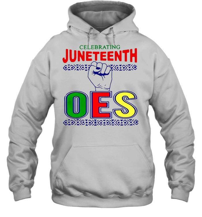 celebrating juneteenth oes  unisex hoodie