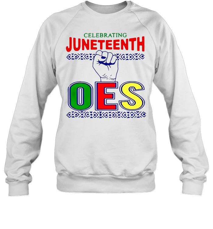 celebrating juneteenth oes  unisex sweatshirt