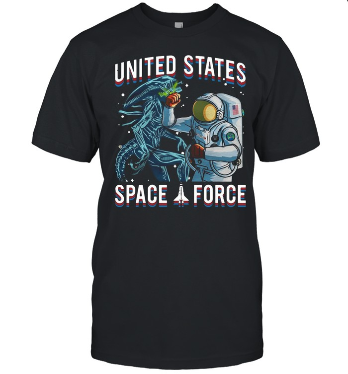 United States Space Force Astronaut Punching Dragon T-shirt Classic Men's T-shirt