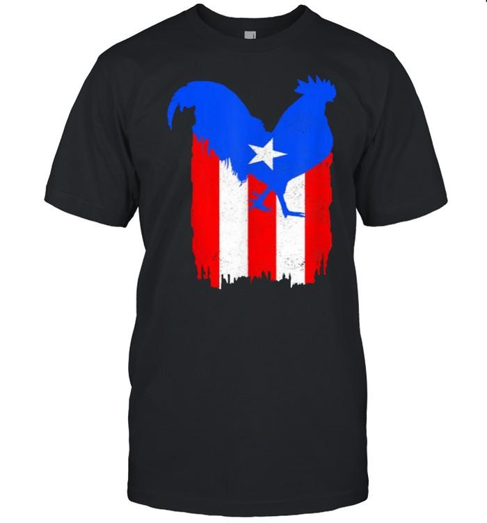 Puerto Rico Gallero Puerto Rican Flag Pride Boricua T- Classic Men's T-shirt