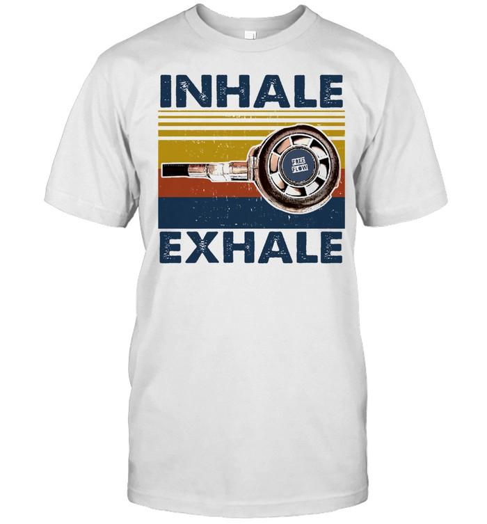 Inhale exhale vintage shirt Classic Men's T-shirt