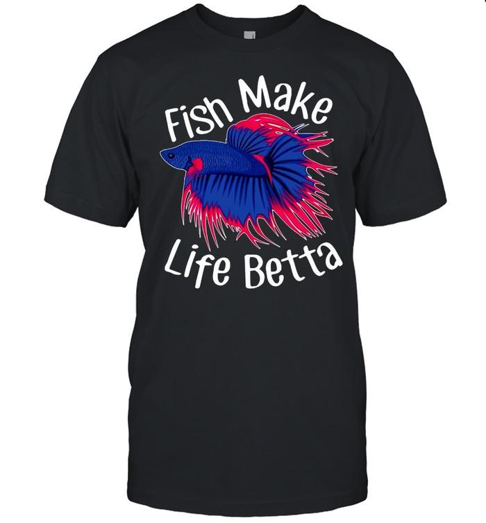 Fish Make Life Betta Pet Siamese Fighting Fish T-shirt Classic Men's T-shirt
