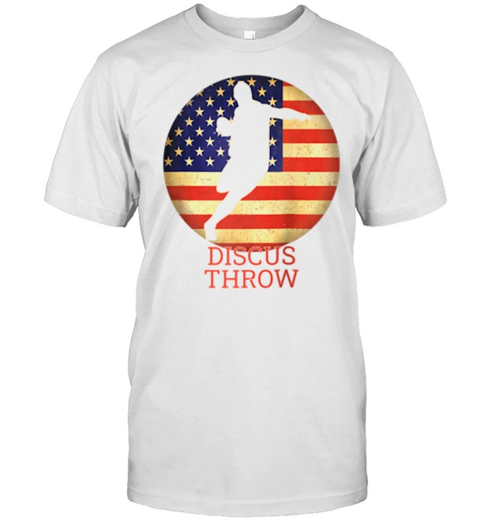 Track and Field USA Team Thrower Proud American Discus Throw shirt Classic Men's T-shirt
