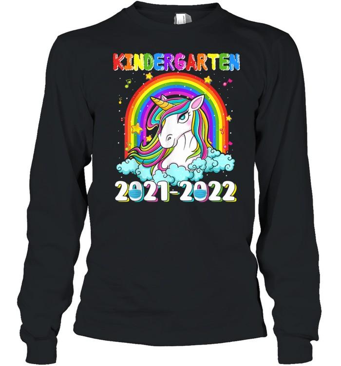 Kindergarten 20212022 Unicorn Rainbow Back To School shirt Long Sleeved T-shirt