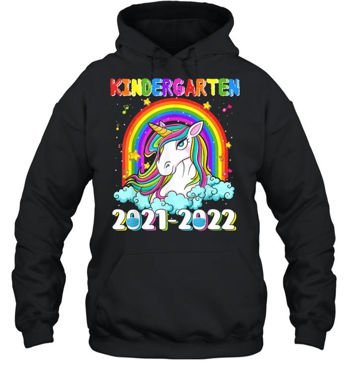 Kindergarten 20212022 Unicorn Rainbow Back To School shirt Unisex Hoodie