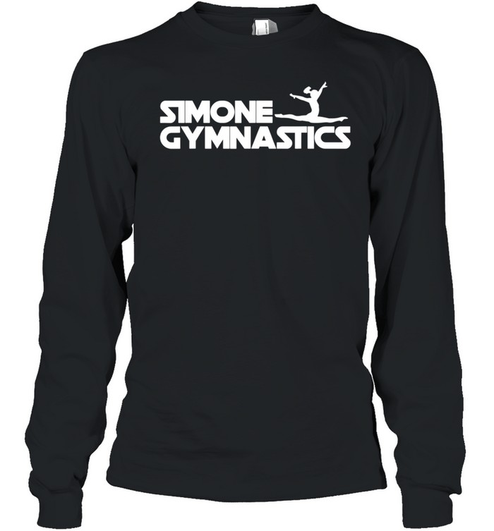 Simone Gymnastics Wins Another Record White shirt Long Sleeved T-shirt
