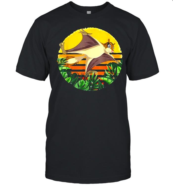 Animal Flowers Australian Animal Sugar Glider Vintage Retro T-shirt Classic Men's T-shirt