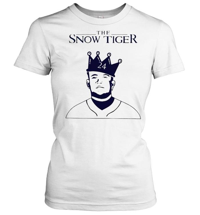 miguel cabrera the snow tiger shirt classic womens t shirt