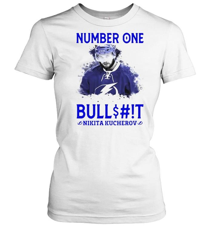 number one bullshit stanley cup champions nikita kucherov t shirt classic womens t shirt