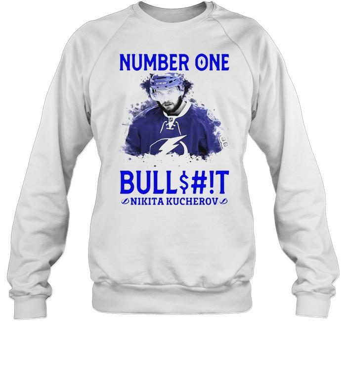 number one bullshit stanley cup champions nikita kucherov t shirt unisex sweatshirt