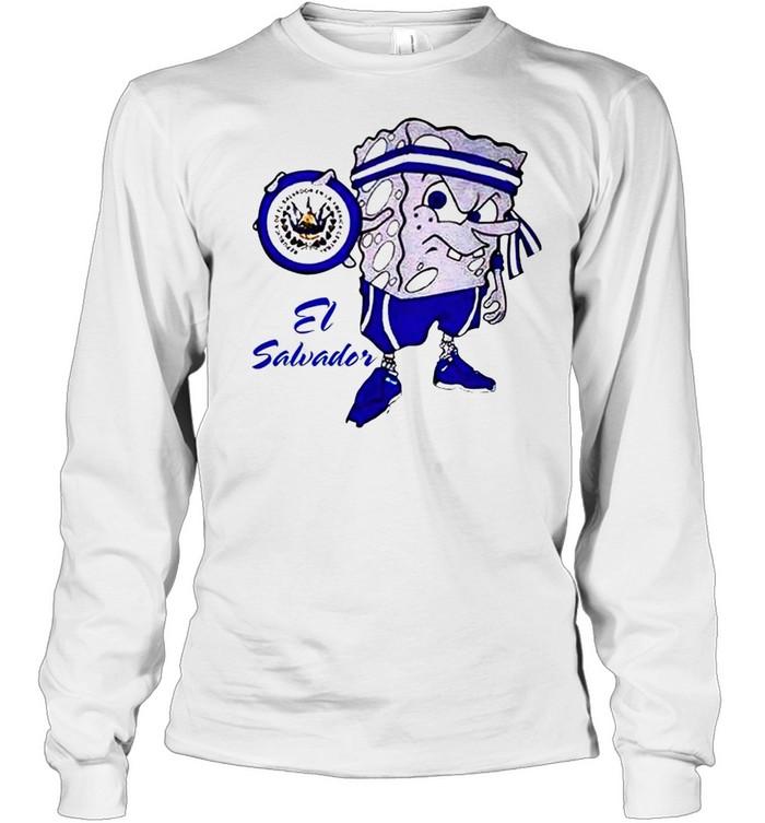 Spongebob El Salvador shirt Long Sleeved T-shirt