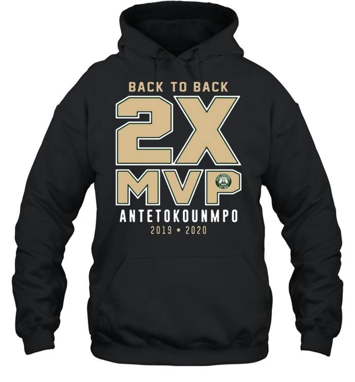 Giannis Antetokounmpo 2019-20 NBA MVP Milwaukee Bucks shirt Unisex Hoodie