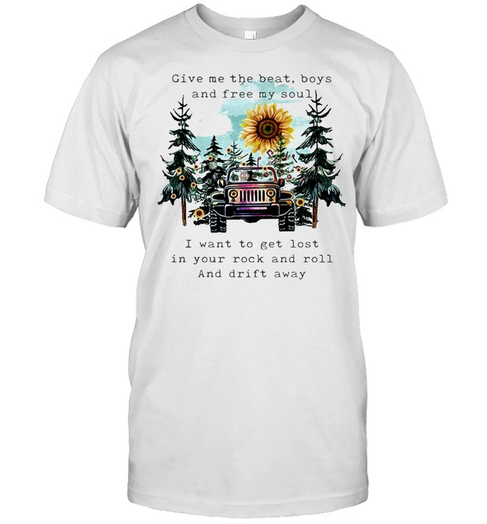 Give Me The Beat Boys And Free My Soul I Wanna Get Lost In Your Rock And Roll T-shirt Classic Men's T-shirt