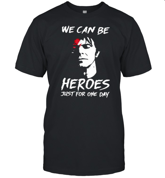 We can be heroes just for one day shirt Classic Men's T-shirt