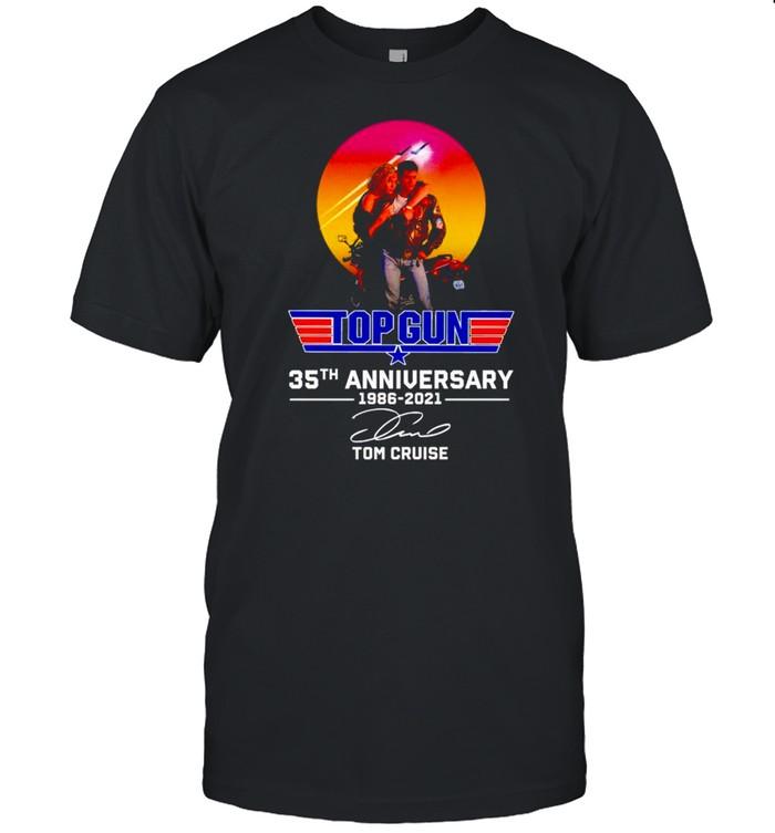 Top Gun 35th Anniversary 1986 2021 Tom Cruise signature shirt Classic Men's T-shirt