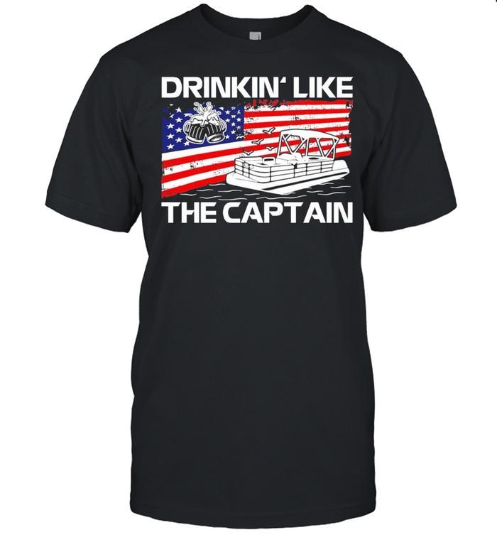 Drink like the captain american flag shirt Classic Men's T-shirt