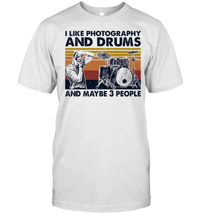I like Photography and Drums and maybe 3 people vintage shirt Classic Men's T-shirt