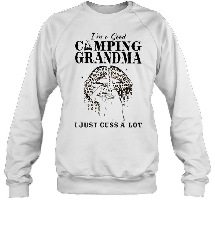 I'm A Good Camping Grandma I Just Cuss A Lot Lepoard  Unisex Sweatshirt