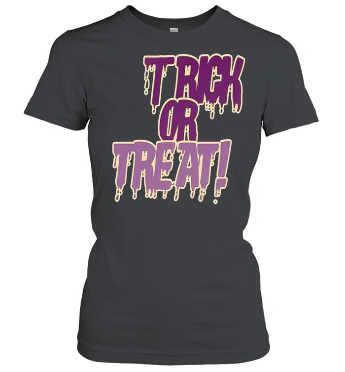 Trick or treat police grunge shirt Classic Women's T-shirt