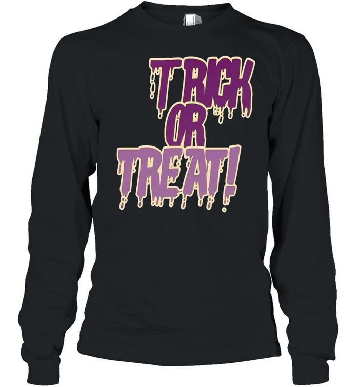Trick or treat police grunge shirt Long Sleeved T-shirt