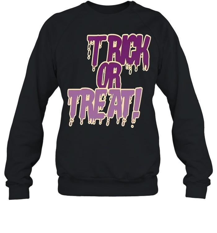 Trick or treat police grunge shirt Unisex Sweatshirt