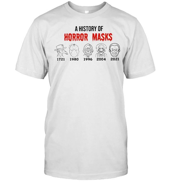 A history of horror masks 2021 Biden shirt Classic Men's T-shirt