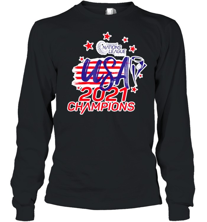 Gold cup concacaf usa 2021 champions shirt Long Sleeved T-shirt