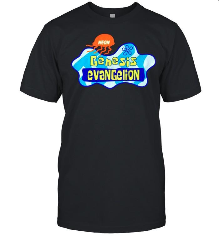 Neon Genesis Evangelion X Spongebob shirt Classic Men's T-shirt
