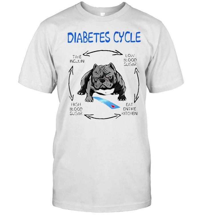 Pitbull diabetes cycle take insulin low blood sugar high blood sugar shirt Classic Men's T-shirt