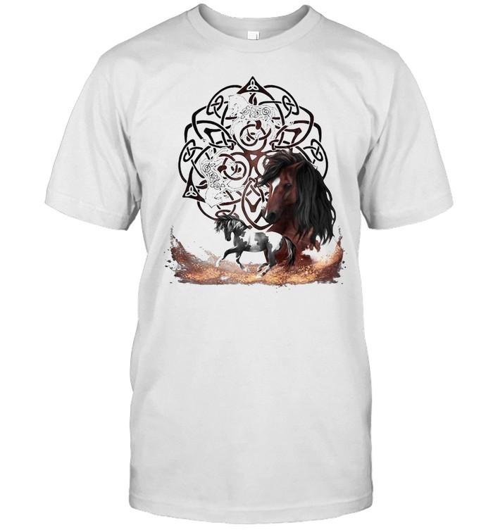 Celtic Knot Horse Men Women T-shirt Classic Men's T-shirt